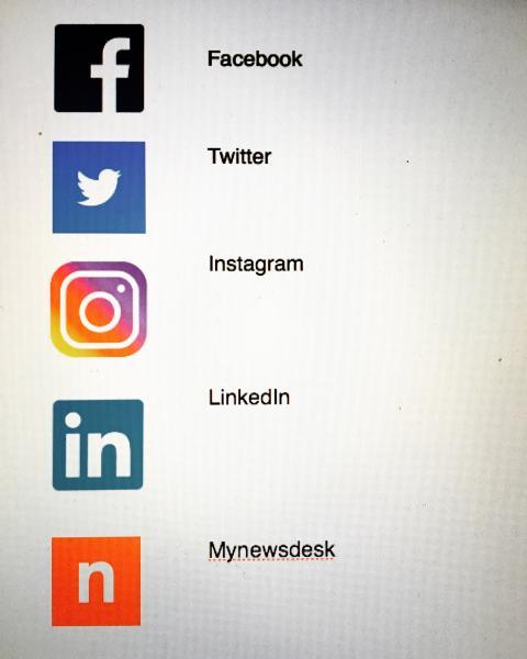 Giving People på sociala medier