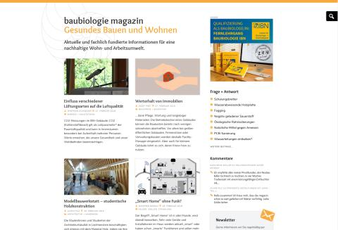 Jubiläum: 40 Jahre WOHNUNG+GESUNDHEIT – die Zeitschrift für Baubiologie geht online