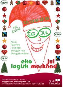 Ekologisk julmarknad i Bryggarsalen 12/12 kl 12