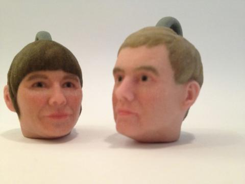 Åsa Romson och Gustav Fridolin i 3D