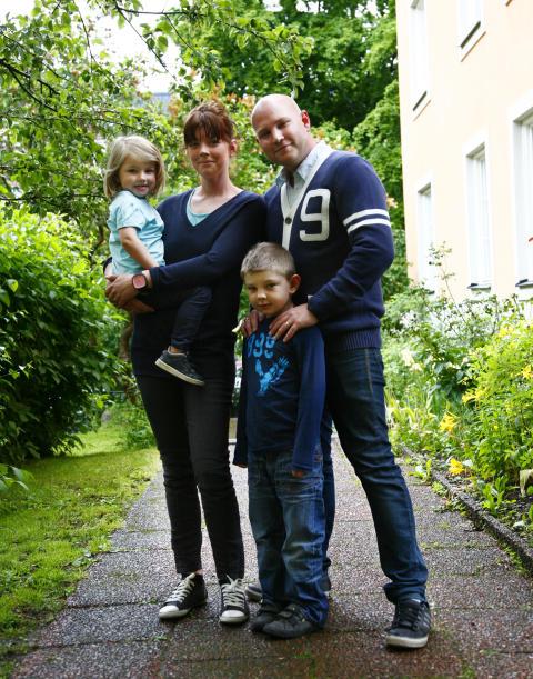 Polars bloggpappa Kalle Brauner med familj