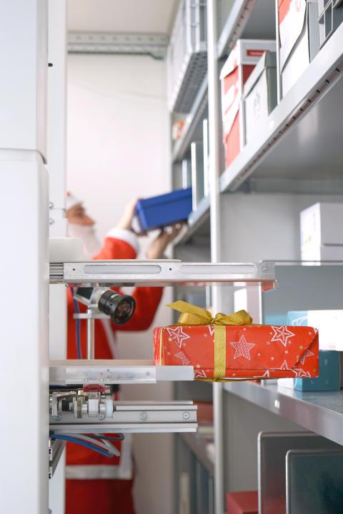 Der Weihnachtsmann bekommt Unterstützung von mobilen Robotern