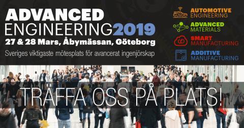 Träffa oss på Advanced Engineering 27-28 mars