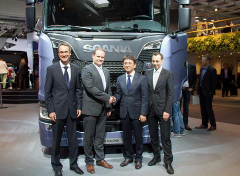 Hankook:  OE-leverandør av dekk til Scania, Mercedes og MAN