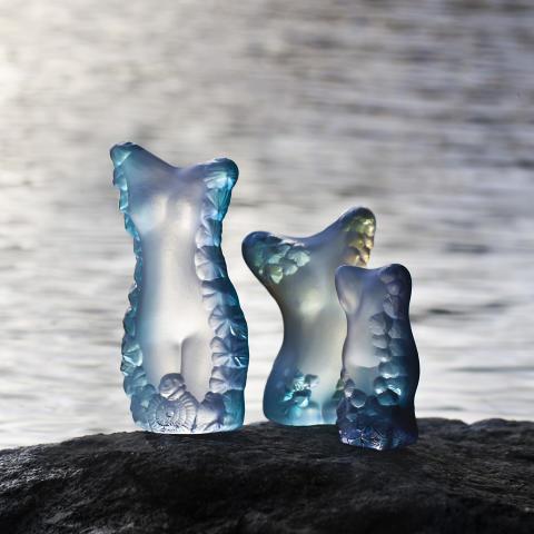 Erika, Anna och Mats – vårens formgivare på Målerås Glasbruk