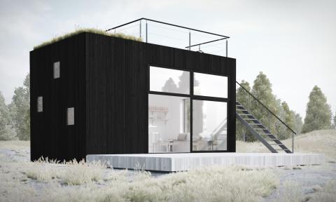 Upplev Sommarnöjens nya Attefallshus med takterrass hos Hem och villa på Stockholmsmässan 2-5 oktober.