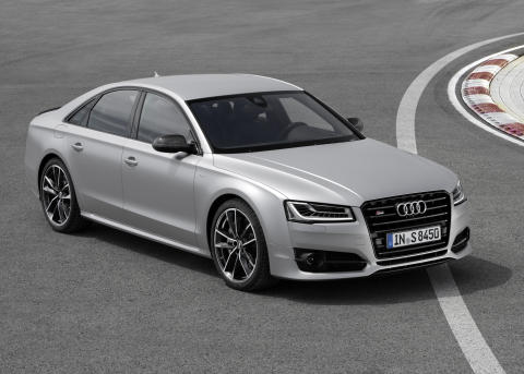 Audi S8 plus i Florett Silver matt static front