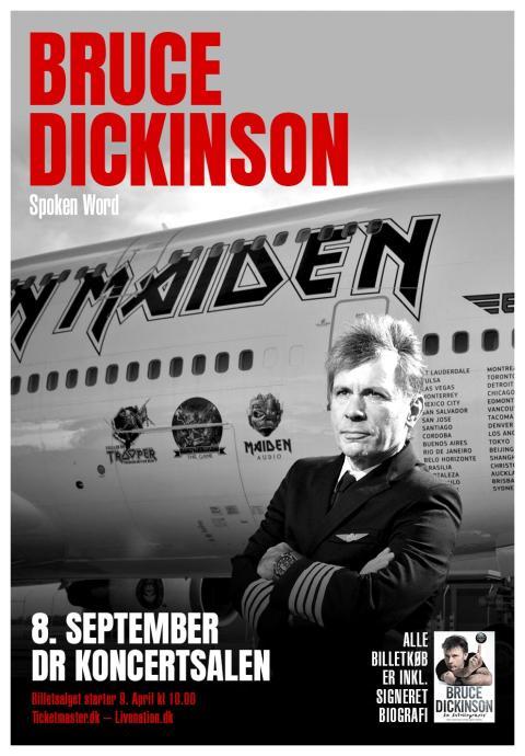 Iron Maiden forsanger Bruce Dickinson til DR Koncerthuset med spoken word optræden