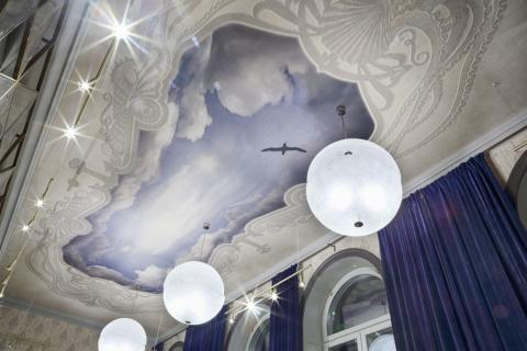 Master suite ceiling at Stora Hotellet Umeå by Stylt