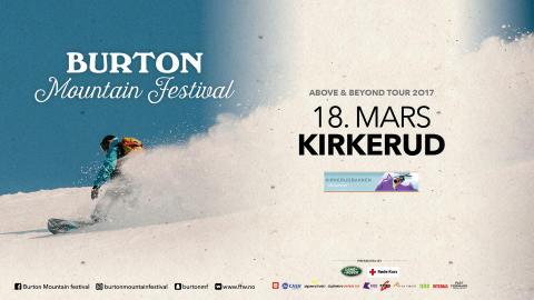 Burton Mountain Festival, Kirkerudbakken lørdag 18 mars!