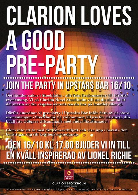 Lionel Richie på Clarion Hotel Stockholm