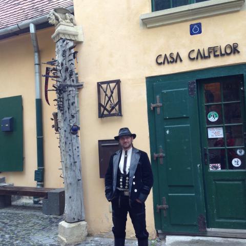 Vandrande gesäller i Sibiu