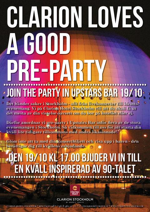 We love the 90's på Clarion Hotel Stockholm