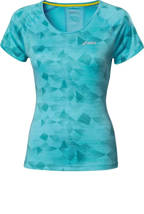 ASICS W'S GRAPHIC SCOOP TOP_Geometric Aquarium_SS14_110573_2013