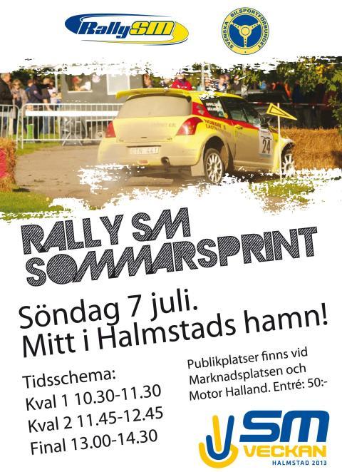 Pressackreditering Rally-SM Sommarsprint Halmstad 7 juli 2013