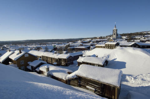 Røros im Winter