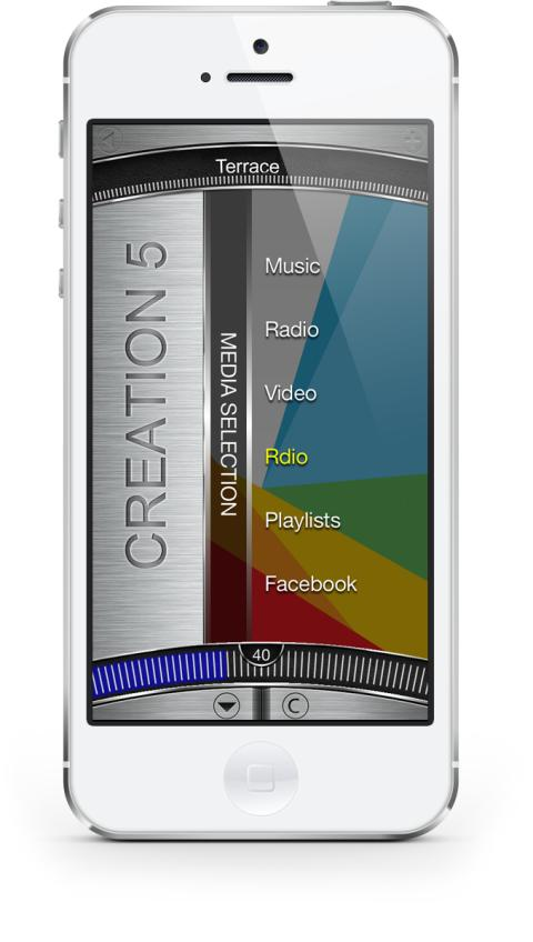 Creation 5 iPhone App - main menu