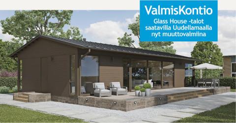 Kontio Glass House -uutuustalot saatavana nyt muuttovalmiina