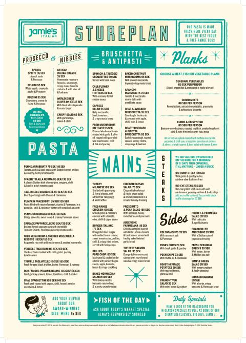 Prices For Food At Jamie Oliver Restaurant In Birmingham