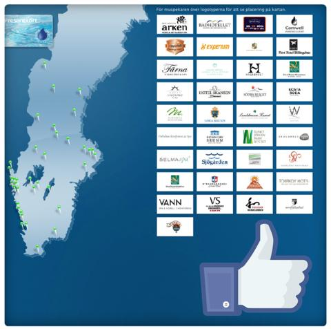 Svenska Spahotells elektroniska presentkort nu även via Facebook.