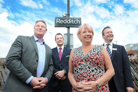 Celebrating the reopening of the Redditch - Barnt Green railway line