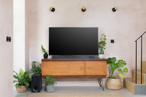 Living Room style with Sony ZF9 Soundbar 7a