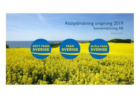 Svenskmärkning. Demoskops attitydmätning ursprung 2019