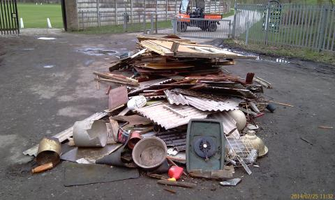 Flytipping near Queen's Park