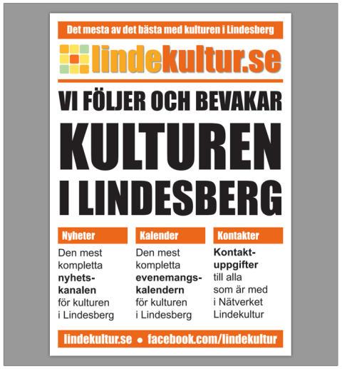 Veckans kulturnyheter från Lindesberg (vecka 47)