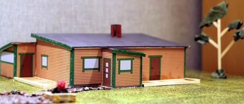 Studenter vid byggnadsingenjörsprogrammet ställer ut årets småhus