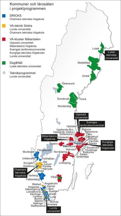 SVU-rapport 2014-22S: Utvärdering av Svenskt Vattens projektprogram för högskolor och universitet. Sammanfattning av rapport 2014-22 (dricksvatten, rörnät och klimat, avlopp och miljö, management)