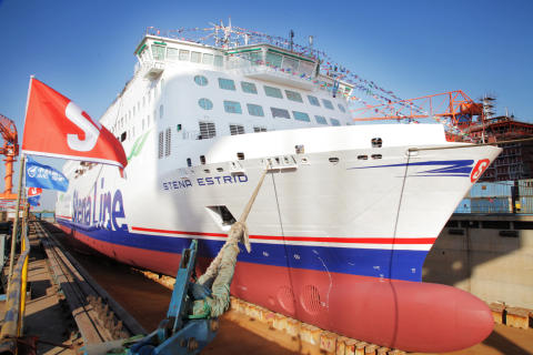 Stena Lines første nybygg har forlatt dokken i Kina
