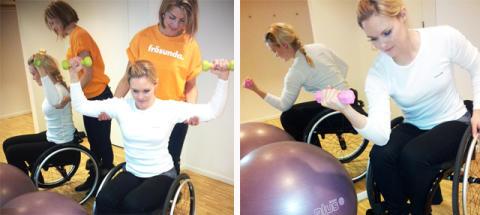 Rörelseträning för personer som använder rullstol