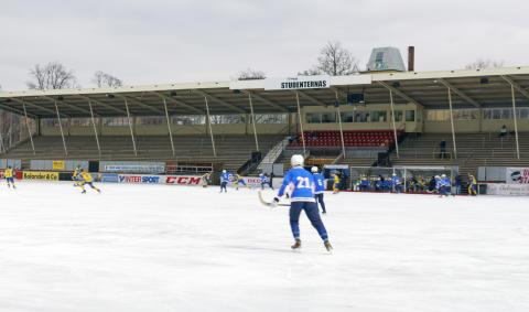Förnyelse av bandyarenan på Studenternas i Uppsala