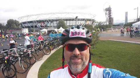 Enthusiastic cyclist rides 100 miles to thank charity which supported his friends