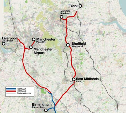 Public Consultation begins on HS2 Phase Two route