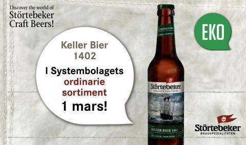 Störtebeker Keller Bier 14052 EKO i Systembolagets ordinarie sortiment 1 mars!
