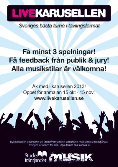 Nu startar Sveriges största livemusik-turné!