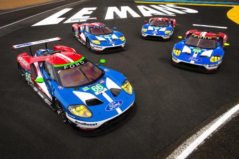 A történelmi jelentőségű győzelem 50. évfordulóján négy Ford áll rajthoz a Le Mans futamon