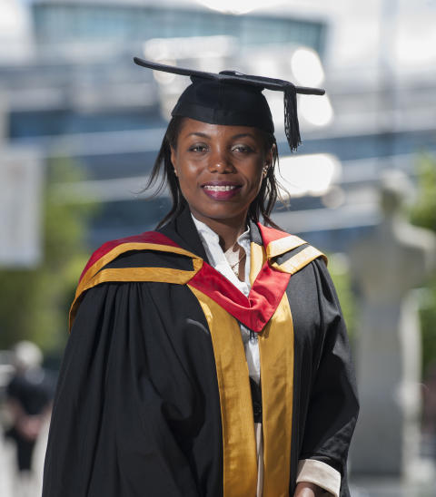 Northumbria student's first day on campus for graduation