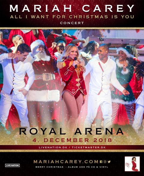 "Mariah Carey kommer til Danmark med sin ""All I Want For Christmas Is You Tour"" / 4. december i Royal Arena"