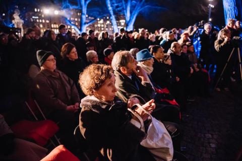 Manifestationer för Förintelsens offer