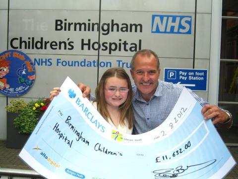 Football legend gives cash injection to Birmingham Children's Hospital Cancer Centre Appeal
