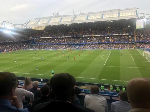 Vasile Topciu forges new business connections at Chelsea Vs. Huddersfield Game
