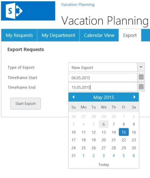 Urlaubsantrag erstellen