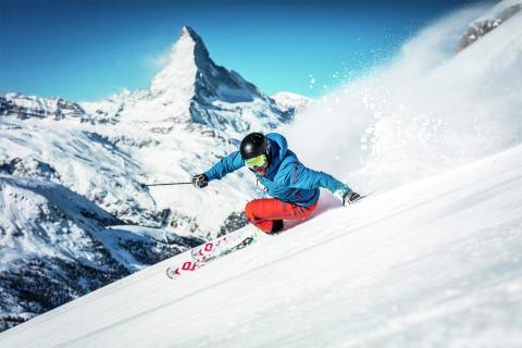 Frühlingsskifahren in Zermatt, Wallis