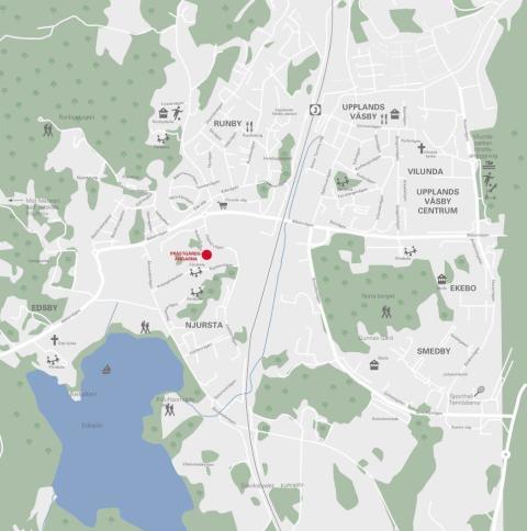 Prästgårdsängarna karta