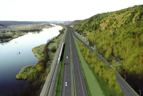 200.000 m3 Leca lettklinker er benyttet til prosjektet motorvei og jernbane E45 i Sverige