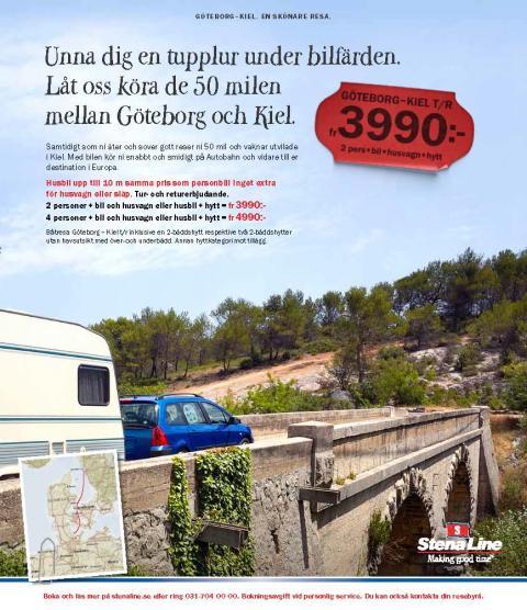 Husvagnskampanj fyller Stenas bildäck