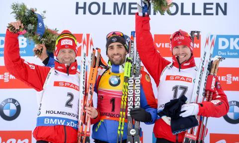 Ole og Emil på pallen, jaktstart VM i Holmenkollen 2016